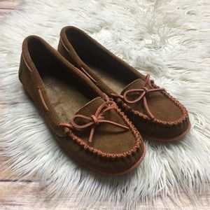 Minnetonka | Brown Suede Moccasin Loafers Flats